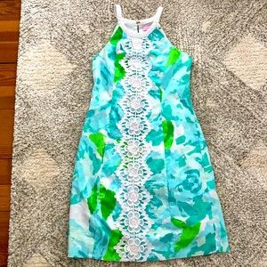 Lilly Pulitzer blue first impressions pearl dress